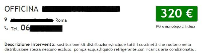 preventivo cinghia distribuzione pompa acqua Fiat Seicento