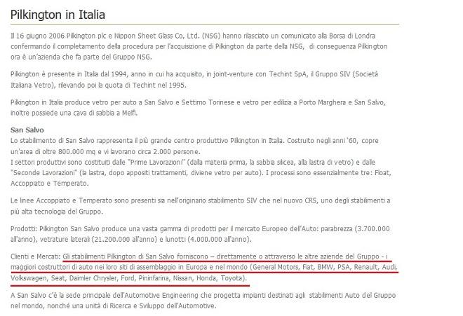 Pilkington sito italiano ufficiale