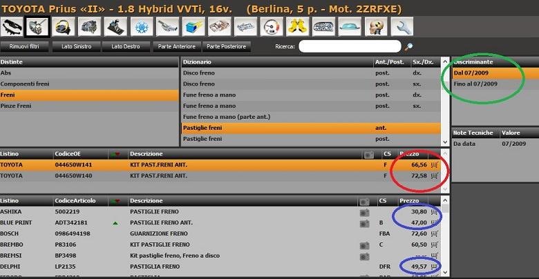 pastiglie-freno-anteriori-per-una-toyota-prius-2-serie-1-8-hybrid-vvti-16-v