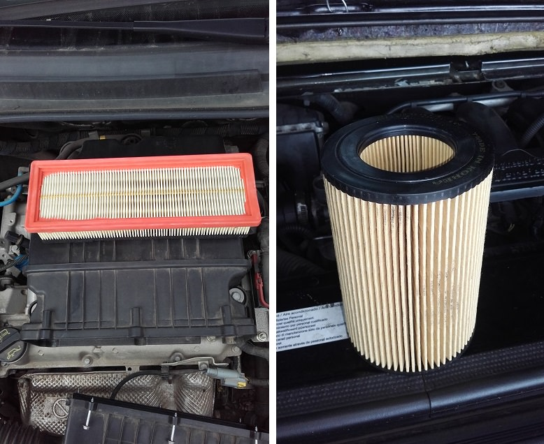 forme dimensioni filtro aria auto