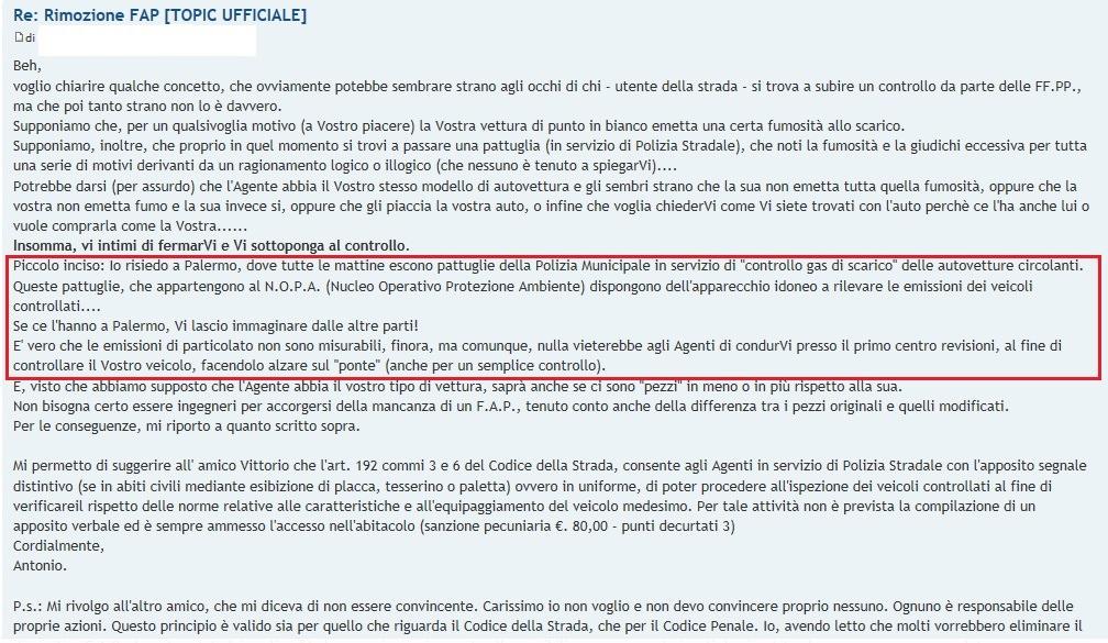 rimozione FAP Palermo
