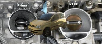 Come ripristinare il motore di una Fiat Panda con oltre 220 mila chilometri, cilindri spompati e corpo farfallato imbrattato, usando solo 3 additivi chimici