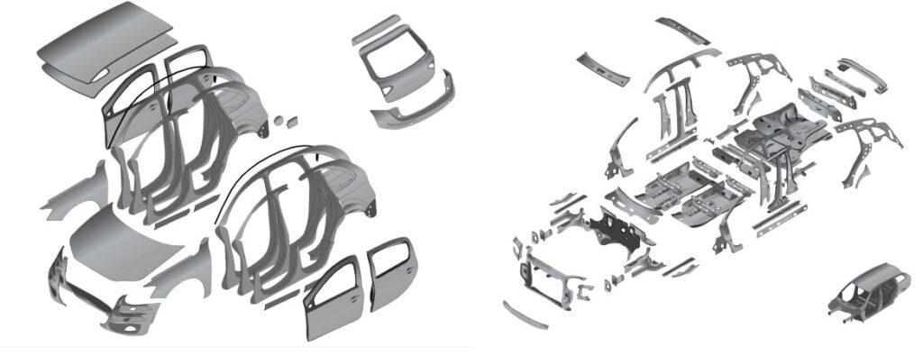 dettagli su danno di carrozzeria auto